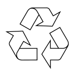 Chasing arrows recycling triangle